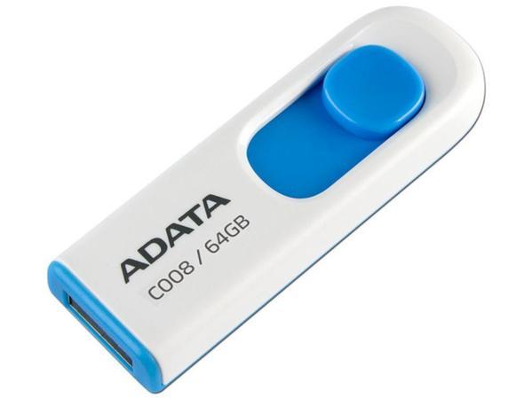 USB ADATA 64GB White AC008-64G-RWE